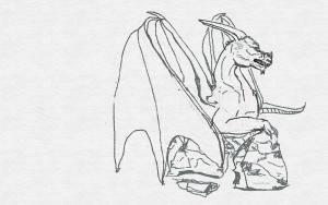 digital dragon first sketch