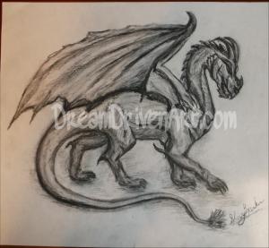 Realistic Charcoal Dragon Drawing