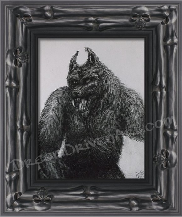 framed werewolf print example picture