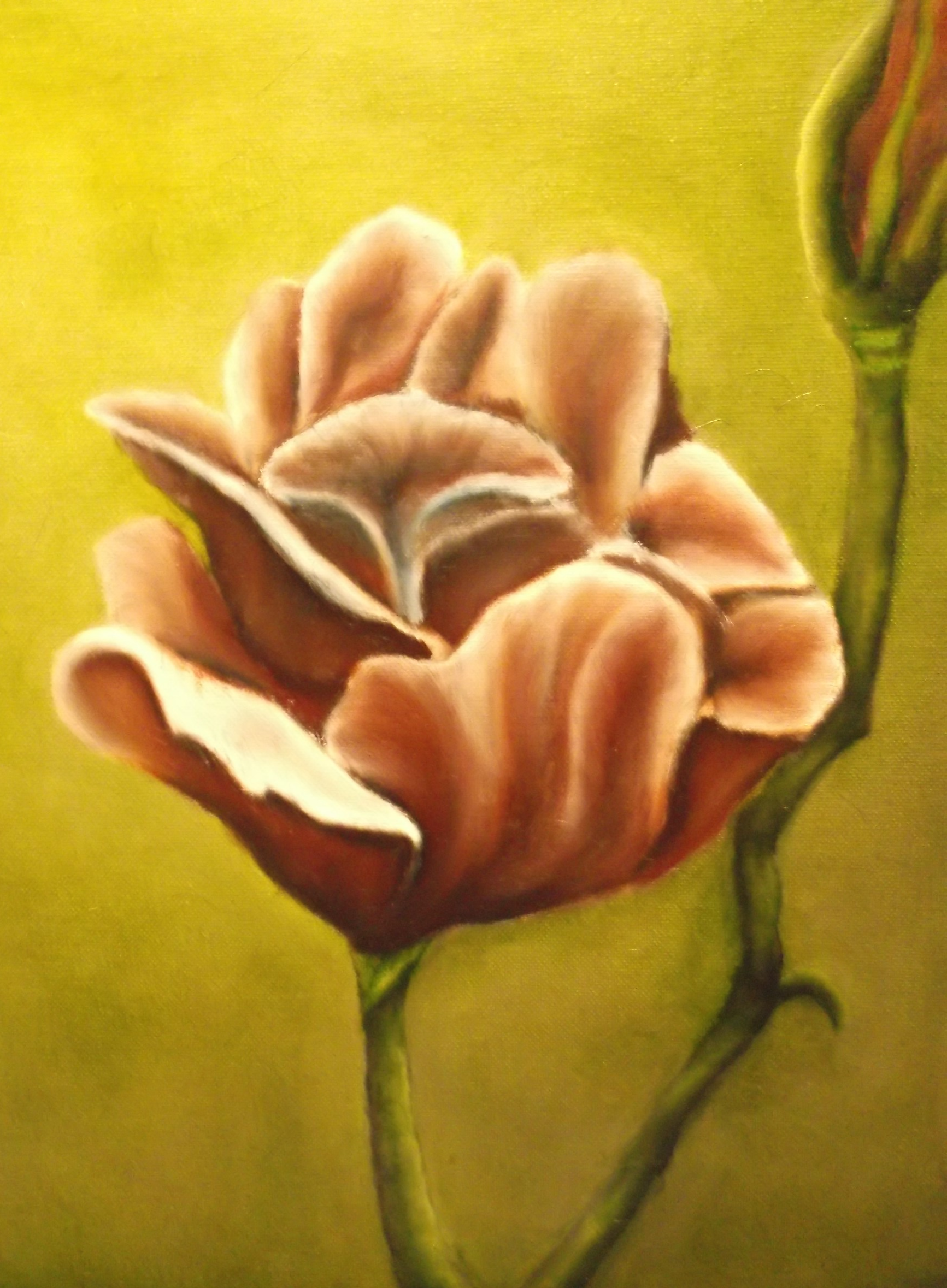 oil painting flowers adding color
