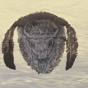 buffalo head drawing with feathers update1