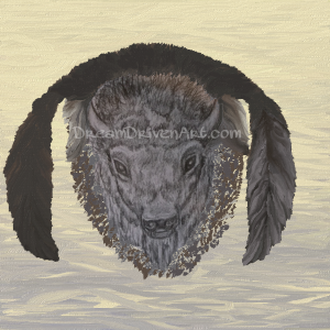 buffalo head drawing with feathers update2