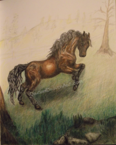 pencil drawings horses adding background part 1