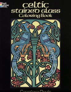 Celtic Stained Glass Coloring Book for Adults