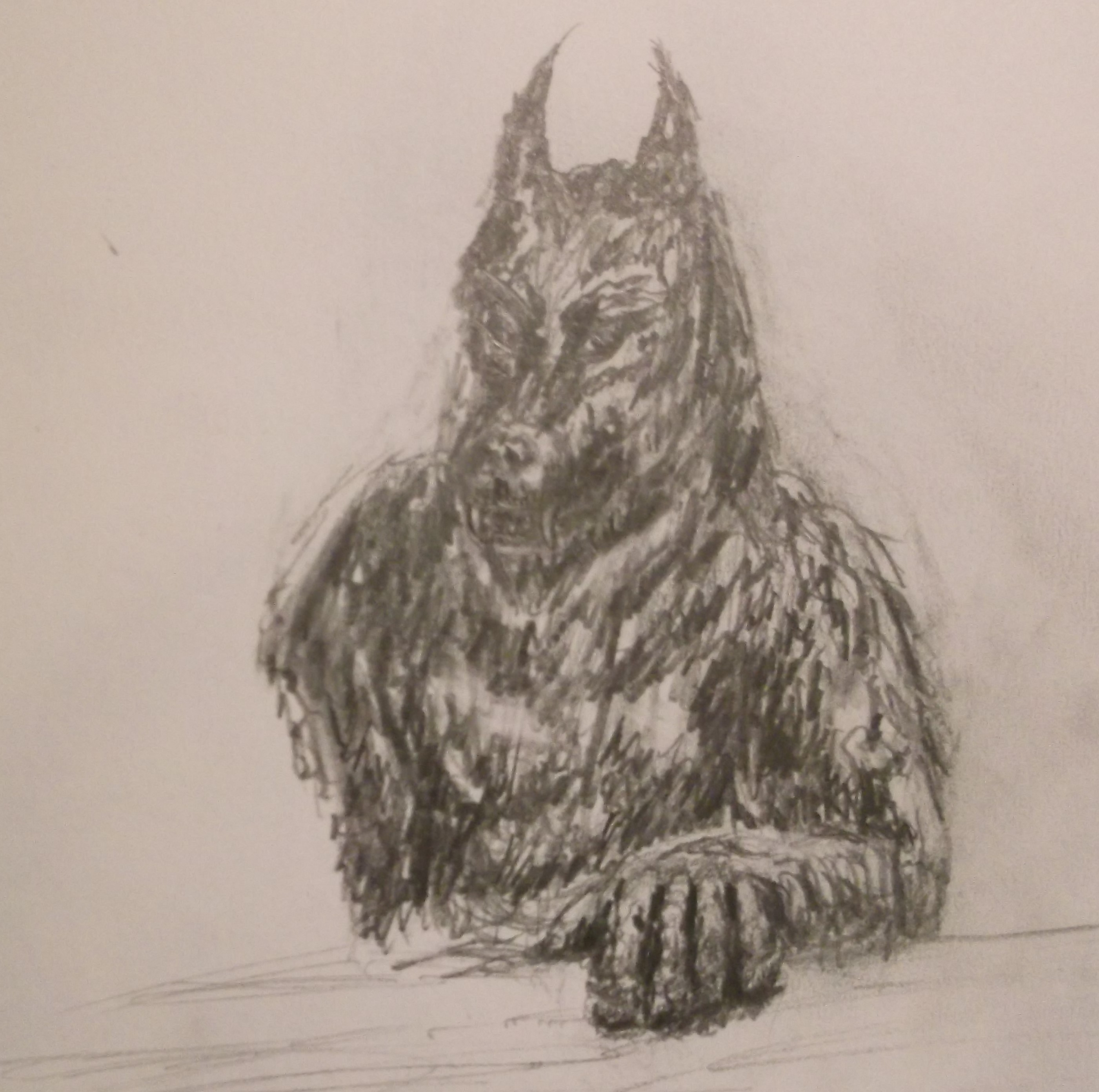 First Pencil Drawing of Werewolf