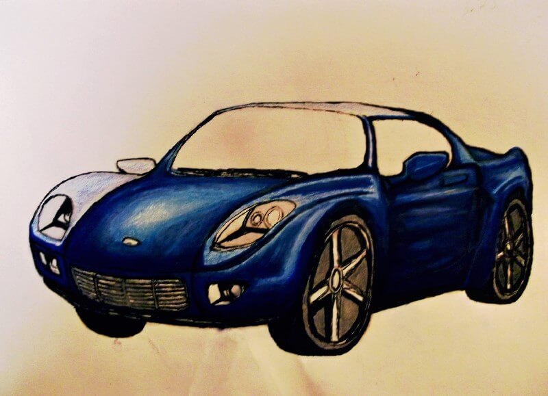 drawing-a-car-adding-color-with-prismacolor-markers
