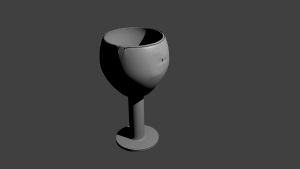 3D Art first project dented wineglass