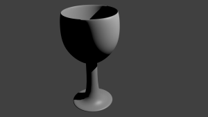 second 3d project basic gray wineglass