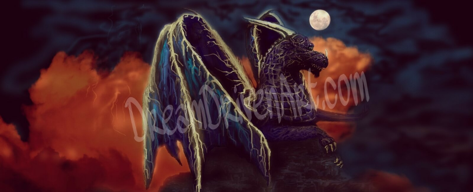 fantasy dragon art twilight storm dragon