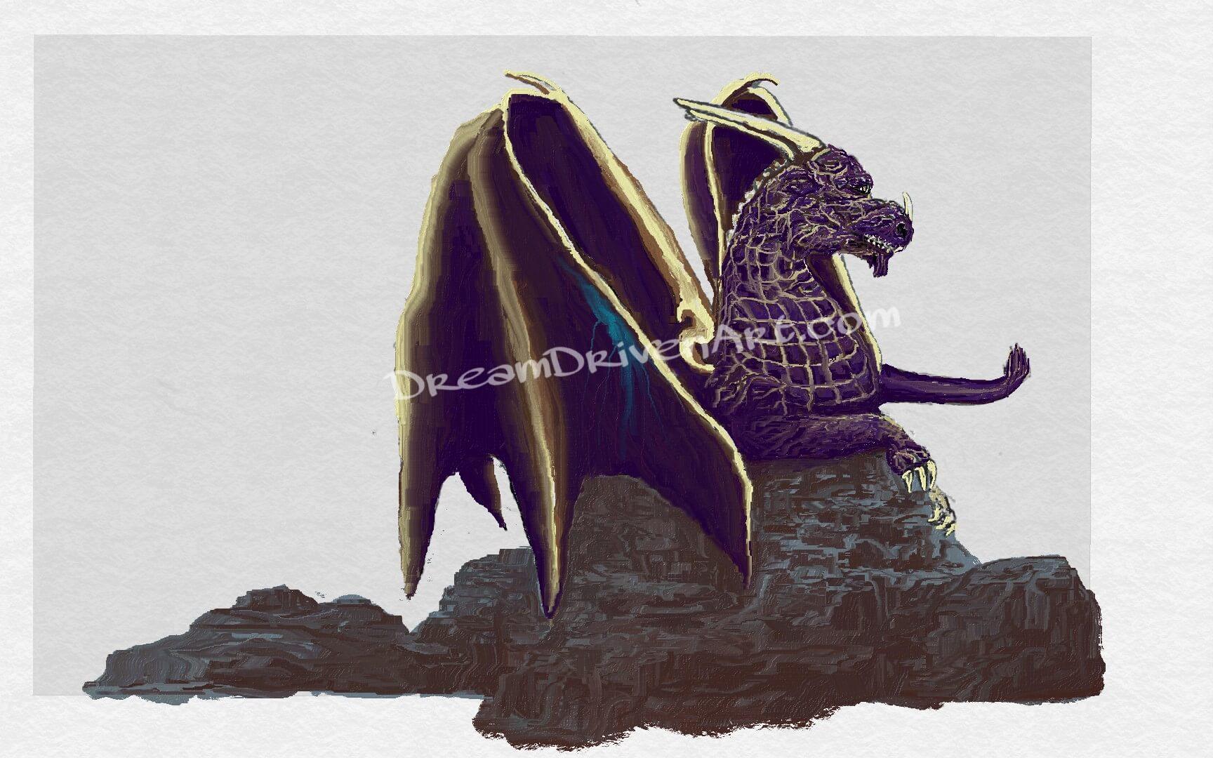 adding real color to dragon head