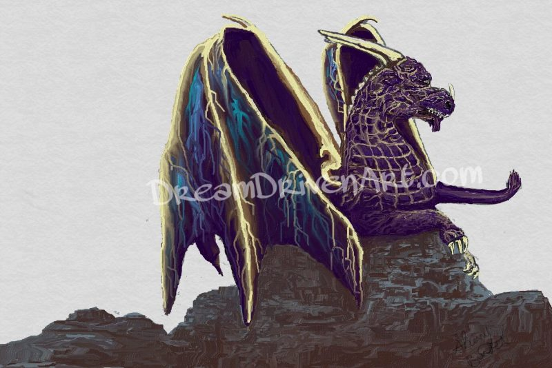 "Fantasy Dragon Art – Making of the ""Storm Dragon"""